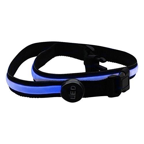 JMENG 3 Watt 78 cm Blaue LED Blinkt Bund Sicherheit Reflektierende Gürtel Bund Fahrrad Laufen Hand Zubehör Trainingsanzug 1 STÜCKE. Festival Lichter -