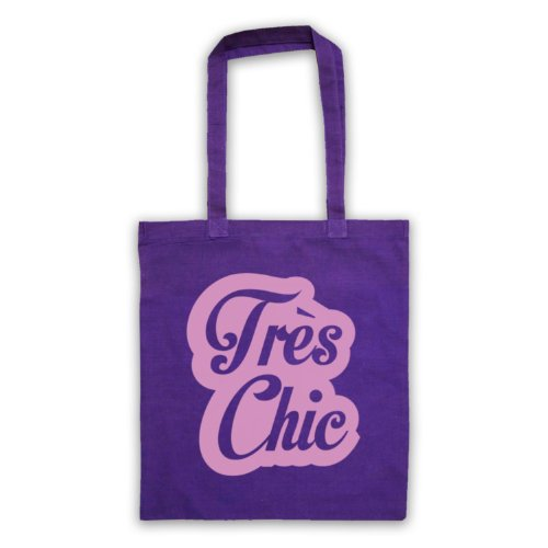 Tres Chic francese Slogan Tote Bag Viola