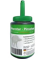 Set Pherotar récipient avec huile de goudron de hêtre et pinceau de Seven Oaks 500 ml - Attractif pour sangliers