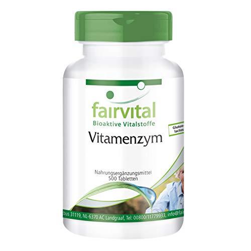 Enzym-Komplex - Vitamenzym - HOCHDOSIERT - 500 Tabletten - Enzym-Komplex - Verdauungs Enzym Mischung
