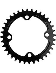 Bicicleta De Carreras MTB 104mm Sola Estrecho Anillo De Cadena Plato Ovalado De Ancho - Negro, 32T