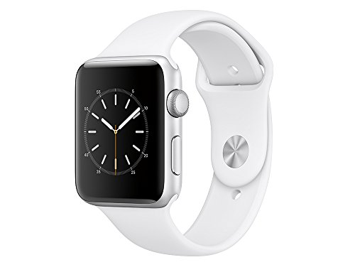 Apple MNPJ2ZD/A Watch Series 2 (42mm, Sport Band) aluminium/weiß/silber