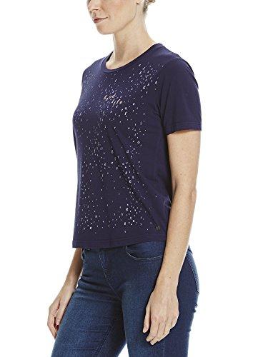 Bench Aop Front Tee, T-Shirt Donna Blau (Maritime Blue BL193)