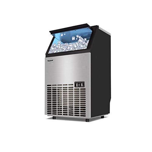 Kommerzieller LuftgeküHlter Eishersteller, 45 Gitter-EiswüRfelschale-Quadratischer EiswüRfel, Der Maschine, 33lbs Der SpeicherkapazitäT, Verwendbar FüR Ktv/Bar/Tee-GeschäFt Bildet