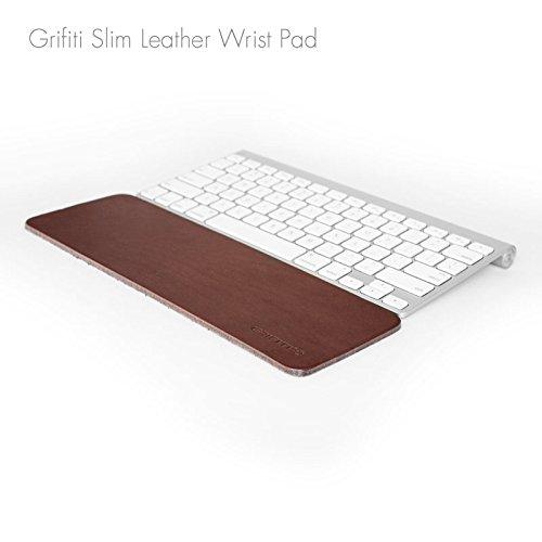 Grifiti Slim Wrist Pad Leder 12Rest für Apple Wireless Tastatur, Anker, Macally, Logitech, GYMLE, Gear Head, Genius, SIIG, Solidtek, Perixx und 30,5cm Slim Tastaturen