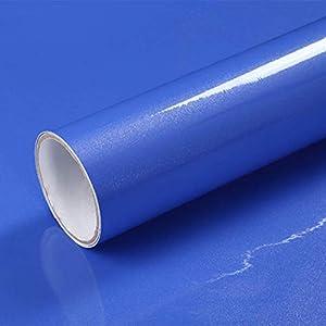 Hode Selbstklebende Folie Schrank Bekleben Möbelfolie für Küche Wände DIY Wasserdicht Vinyl 40cmX300cm Orange Dekorfolie…