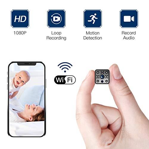 FREDI Cámara espía Wireless Mini cámara Seguridad