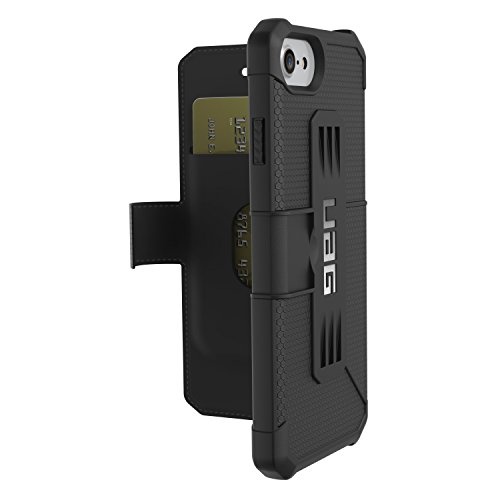 Urban Armor Gear IPH7/6S-E-BL - Funda tipo folio para Apple iPhone 7 y 6S, color negro