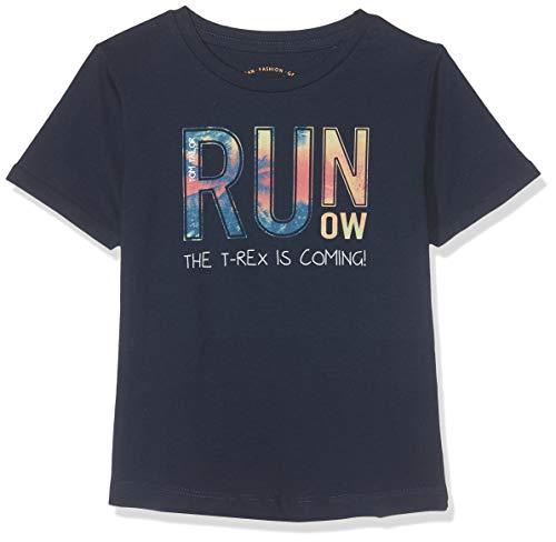 TOM TAILOR Kids Jungen Placed Print T-Shirt, Blau (Dress Blue 3043), 116 (Herstellergröße: 116/122) -