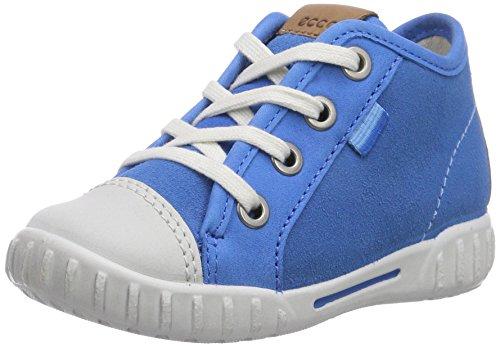 Ecco  Mimic, {Chaussures premiers pas pour bébé (garçon) Bleu - Blau (ShadowWhite/Dynasty Sambal/Suede58322)