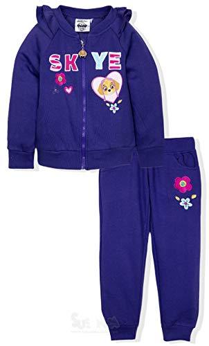 Paw Patrol Offiziell Lizenziert Mädchen Sportanzug Kostüm mit Reißverschluss Pullover und Jogginghose - Skye 2-6 Jahre - Lila, 5-6 Years (Manufacturer Size: 6 ()