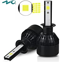 H1 Headlight Bulb LED Car Headlamp Conversion Kits Replace for Halogen Lights or HID Bulbs Lamp Bright 60W 6400LM 6000K 2 Yr Warranty