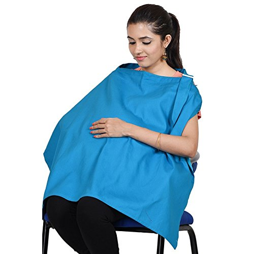Lulamom Mother's Nursing Cover, Turquoise