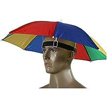 Paraguas de cabeza Westeng para el sol y la lluvia, para golf, pesca y