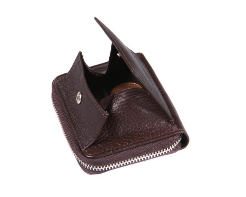 SAGEBROWN Zip Around Wallet Brown With Tan