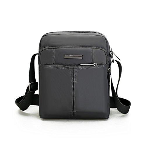 Outreo Borsa Viaggio Borse a Spalla Vintage Borsa Tracolla Uomo Borsello Sport Borsetta Studenti Sacchetto per Tablet Messenger Bag Grigio