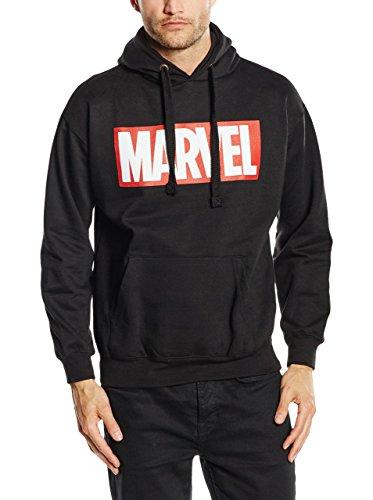 Marvel Herren Core Logo Kapuzenpullover, schwarz, S