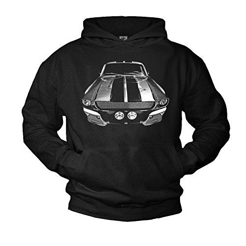 FORD MUSTANG 1968 - Felpa con cappuccio uomo - Pullover Hoodie Sweatshirt Maglietta maniche lunghe L