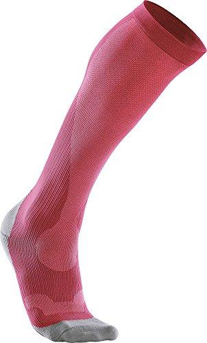Performance Kompressions Socken (Kompressions Performance Socken Damen - 2XU - wa2443e Größe M, Farbe hot pink/grau)