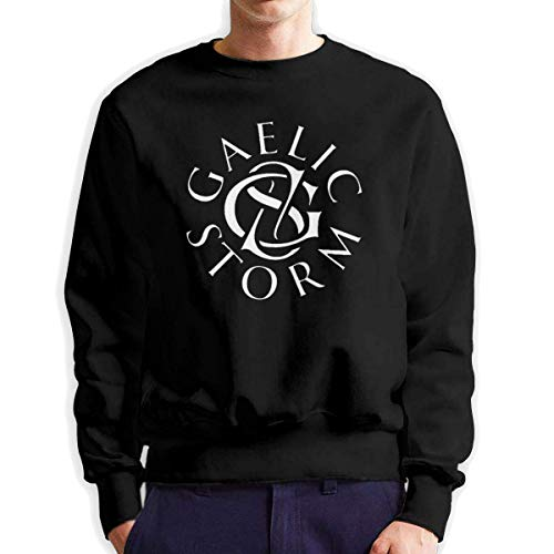 SASJOD Männer Hoodies Gaelic-Storm Men's Adult Crew Neck Sweatshirt Fashion Long Sleeve Pullover -