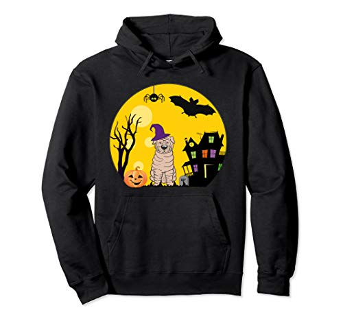 Kostüm Pei Shar - Shar Pei Hunde-Halloween-Kostüm gruselig Vollmond Pullover Hoodie