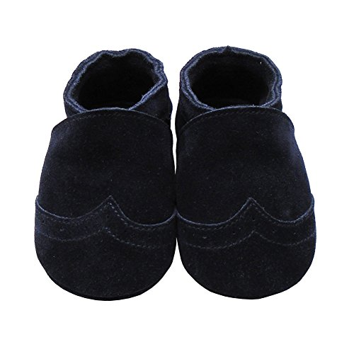 Mejale Weiche Sohle Leder Babyschuhe Lauflernschuhe Krabbelschuhe Kleinkind Kinderschuhe Hausschuhe marineblau 1