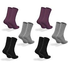Davraz Thermo Soft Socken Baumwolle 6 Paar verschiedene Farben