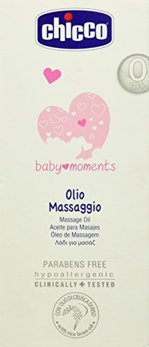 Chicco Massage Hautpflege Momente mit Reiskleie-Öl, 200 ml