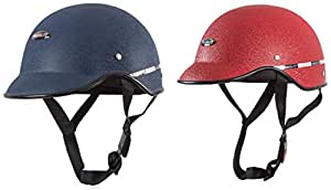 Habsolite All Purpose Safety Helmet with Strap - Blue and Red Combo