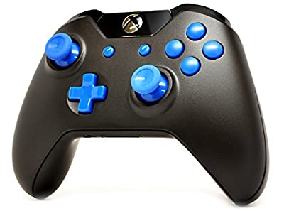 Black/Blue Xbox One Custom UN-MODDED Controller Exclusive Design