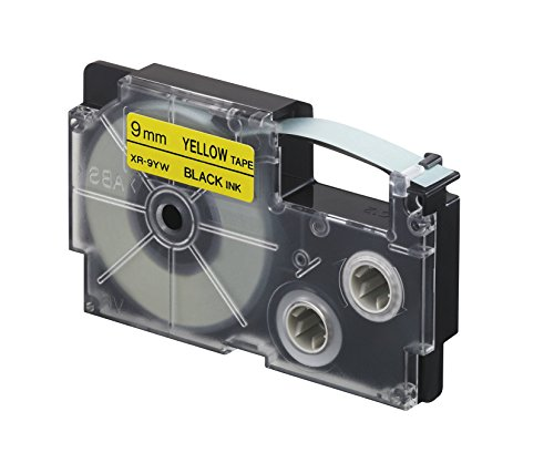CASIO EZ-Label Printer XR-9YW1 Schriftband selbsthaftend 9 mm x 8,0 m schwarz auf gelb (Ez Tape)