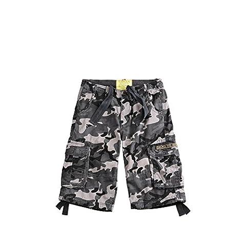 Alpha Industries Shorts Jet Short, Größe:29, Farbe:black camo