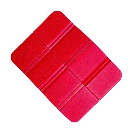 WINOMO Sitzkissen faltbar Thermo Isolierend Wasserdicht Sitzmatte für Outdoor Garten Camping Picknick (Rot)