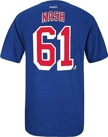 Rick Nash New York Rangers Reebok NHL Player Men's Blue T-Shirt Chemise