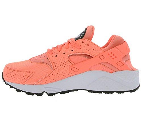 Nike Air Huarache Run, Chaussures de Running Entrainement Femme, Noir (Schwarz) Rose (Atomic Pink / Atomic Pink)