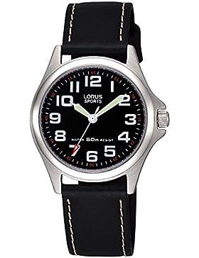 Lorus Watches Jungen-Armbanduhr Kids Analog Quarz Leder RRS53LX9