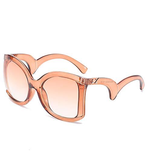 Platz Elegante Damen Sonnenbrille Damen Luxus Big Sonnenbrillen weiblich Jahrgang Shades Brillen, 6