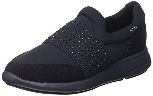 Geox d ophira a, scarpe da ginnastica basse donna, blu (dk navy), 38 eu