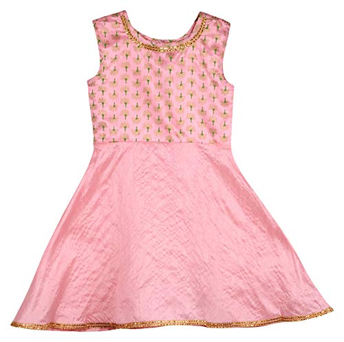 KU-Girls-Designer-Premium-Quality-Pink-Printed-Kurti-Best-wear-for-Kids-Fancy-Dress-Indian-Festivals--Rakhi-Dushhera-and-Diwali-Theme-Parties-and-Indian-Puja-Ceremonies