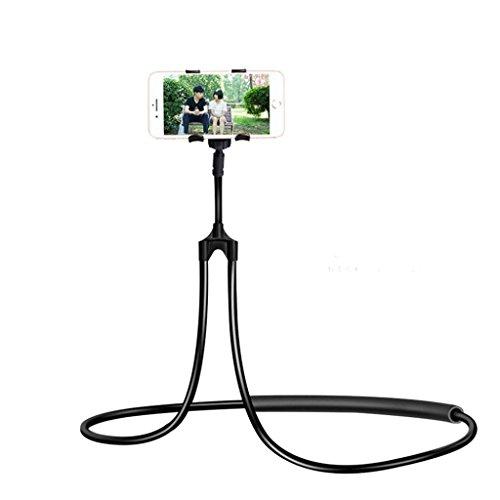 Jintime Tragbare Telefon Ständer Universal Faul Halter Hängenden Nackenstütze Handy Halterung Halskette Unterstützung Bracket 78 cm / 30,7 Zoll (Black) - Universal Gps-home Charger