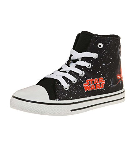 Star Wars-The Clone Wars Darth Vader Jedi Yoda Garçon Sneaker 2016 Collection - noir