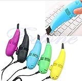 Winbang Cleaner USB, Mini USB aspirapolvere corredo della spazzola di vuoto della tastiera per il computer portatile sacchetto di trucco, Red Rose