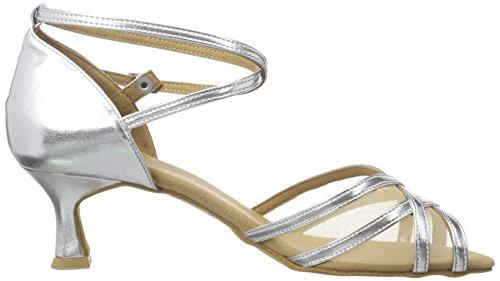Diamant Damen Latein Tanzschuhe Standard Latein Silber 035-077-013 - 6