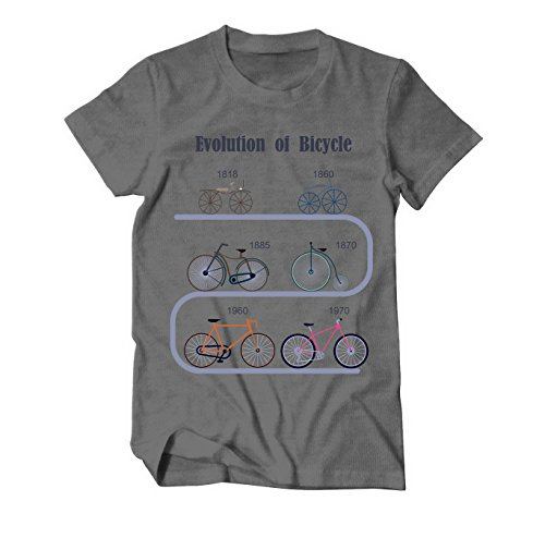 Evolution of Bicycles Biker Fahrrad T-Shirt Herren Grau