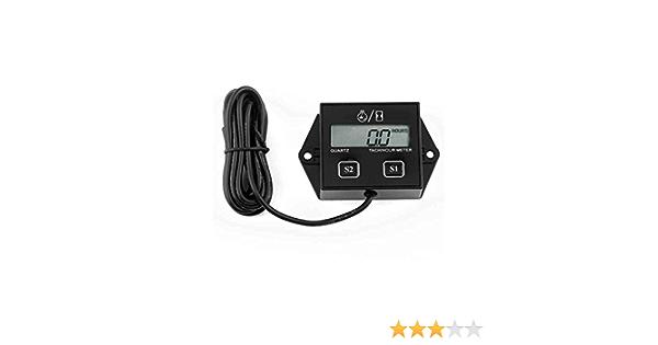 Fighting5 Digitales Tach Stundenzähler Tachometer Messgerät Induktiv Für Motorrad Motor Wasserdichtes Digital Zusatzinstrument Küche Haushalt