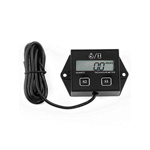 Fighting5 Digitales Tach Stundenzähler-Tachometer-Messgerät induktiv für Motorrad-Motor Wasserdichtes Digital Zusatzinstrument