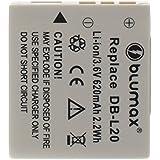 Blumax Batterie li-ion 3.6V 620mAh 2.2WH pour Sanyo DB L20/DB L20A/DB l20au