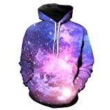 Manadlian Herren Hoodie Herbst Winter Lila 3D-Druck Lange Ärmel Mit Kapuze Sweatershirt Pullover Bluse Coole Kapuzenpullover Sweatshirt