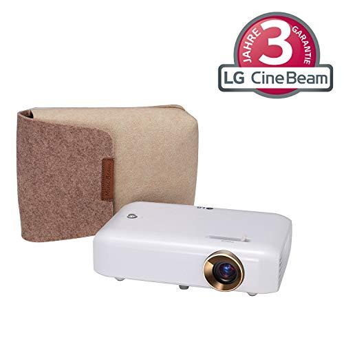 LG Beamer PH550G bis 254 cm (100 Zoll) CineBeam HD LED Projektor (550 Lumen, Drahtlose Screen-Share-Funktion, integrierter Akku), weiß - 2d-zu-3d-projektor