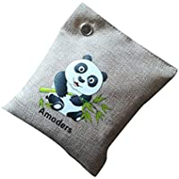 Songrong 2pcs Fresca de purificación de Aire Bolsa Eliminador de olores para los Coches Armarios y baños para Mascotas Áreas de carbón de bambú Bolsas Captura y Elimina los olores (Beige)